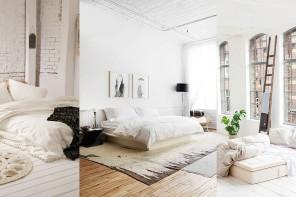 """ไอเดียแต่งห้องนอนสุดคลีน สไตล์""""White Loft""""ที่น่านอนสุดๆ"""