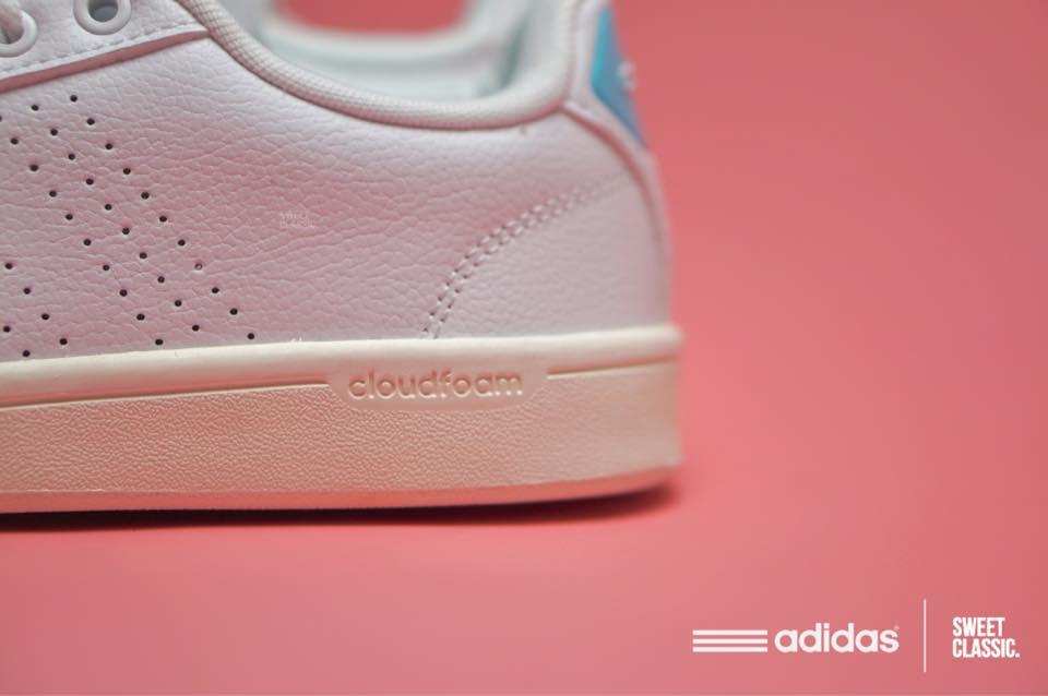 adidas neo cloudfoam advantage clean clear aqua blue