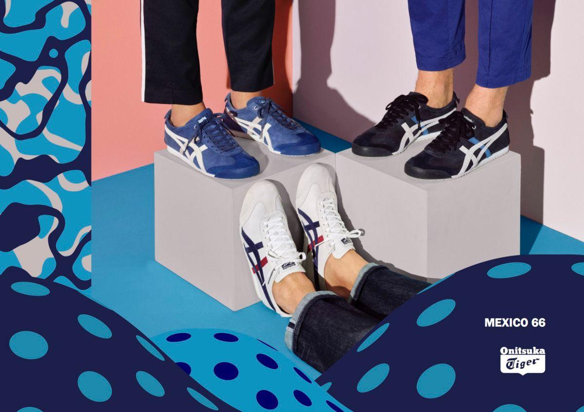 onitsuka tiger mexico 66 dark blue vaporous grey highlights