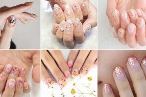 Dry Flower Nails Art เทรนด์เล็บดอกไม้แห้งจากญี่ปุ่น