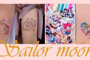"""Sailor Moon tattoo ศิลปะรอยสัก กับการ์ตูนเรื่องโปรดในวัยเด็ก """"เซเลอร์มูน"""""""