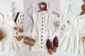 Every Look in White Dress แมทช์ง่ายใส่ได้ทุกวัน