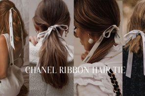 """เรียบแต่หรูกับไอเดียทรงผมไฮด์ลุคด้วย """" Chanel ribbon hair tie """""""