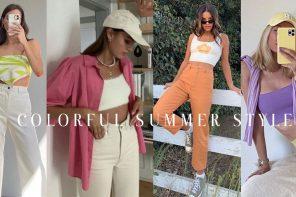 Colorful Summer ครีเอตลุคสีสันรับอากาศสดใสฉบับฤดูร้อนน่ารัก