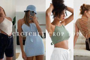 Crotchet crop tops